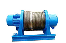 Straight line electric winch